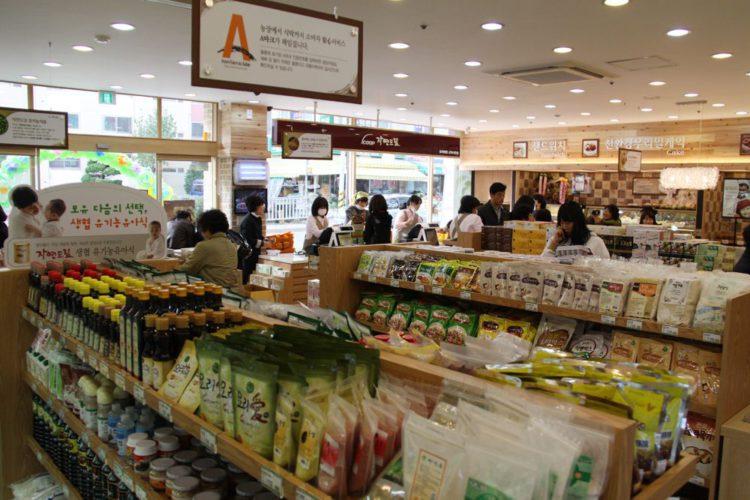 органические продукты в Корее